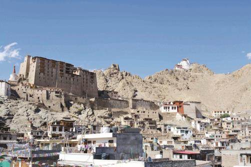 A beautiful view of old Leh, Leh Palace and Namgyal monastery, in Leh on Thursday. ANI Photo
