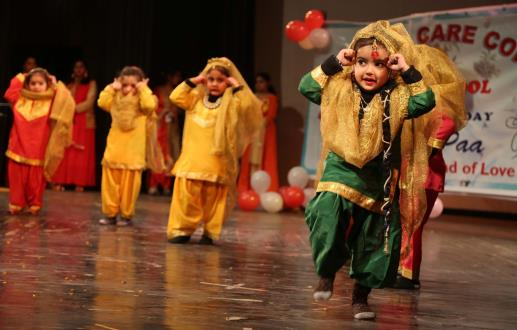 Children performing during the annual day celebrations of School.
