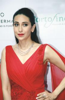 Bollywood Actor Karishma Kapoor at the launch Diamond Store in Jammu on Tuesday.