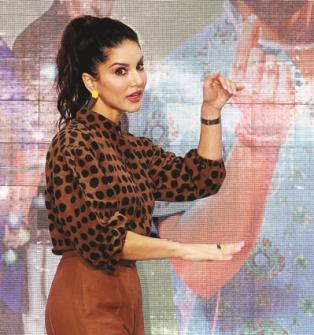 Bollywood actress Sunny Leone at the launch of new song 'Funk Love' from  her upcoming film 'Jhootha Kahin Ka' in Mumbai on Thursday. (ANI Photo)