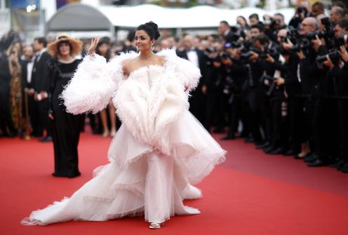 "Aishwarya Rai Bachchan poses on her Red Carpet arrival during 72nd Cannes Film Festival - Screening of the film ""La Belle Epoque"" Out of competition in Cannes, France on Monday. (REUTERS Photo)"