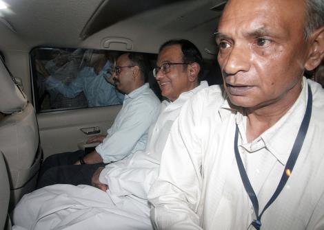 CBI officials take away Congress leader and former Union Minister P Chidambaram in New Delhi on Wednesday.